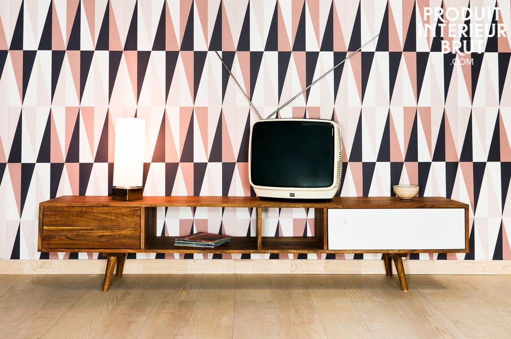 Cuisine gris blanc bois id es de d coration et de for Solde meuble tv