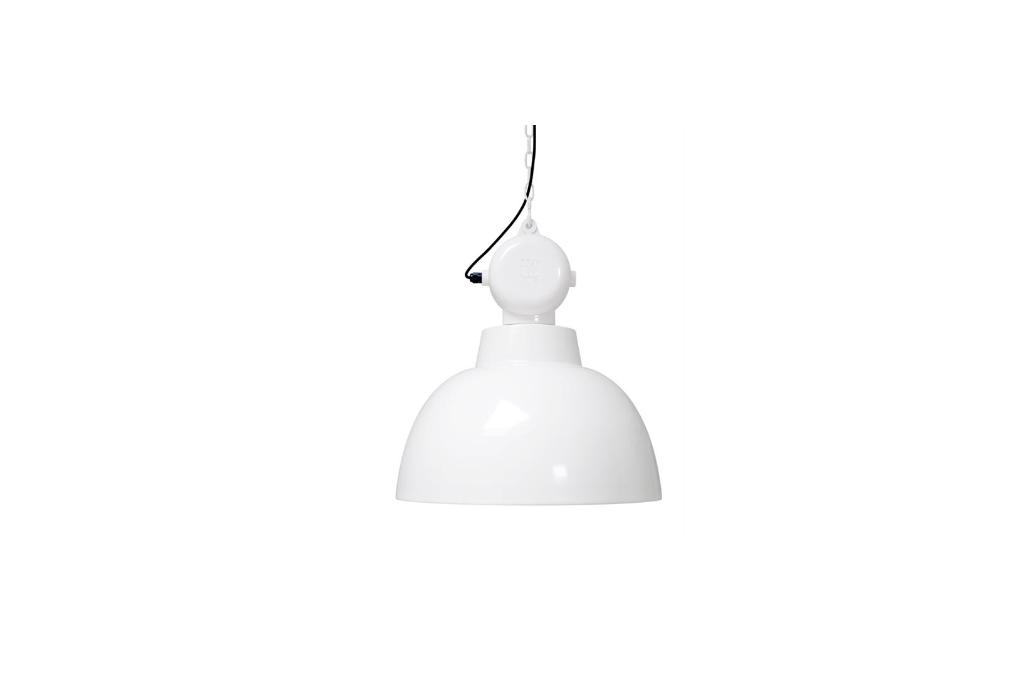 Plafonnier industriel Retronom 50cm Blanc -