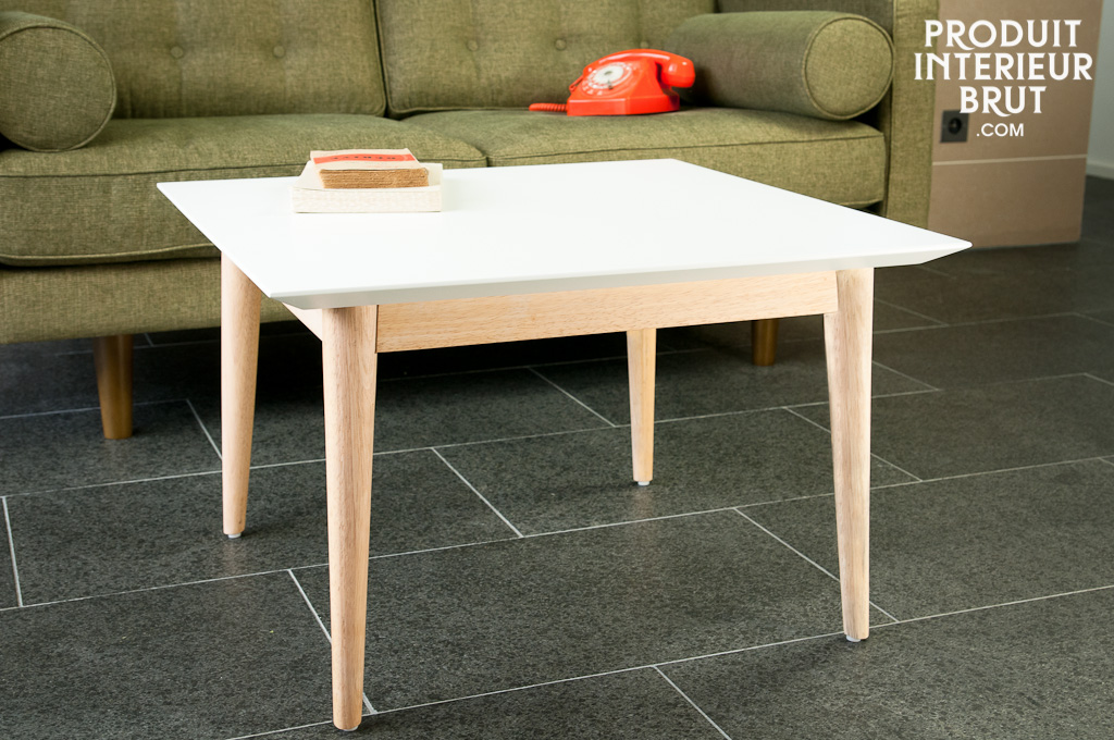 Table basse fjord carr e meuble nordique r alis e tout for Table carree scandinave