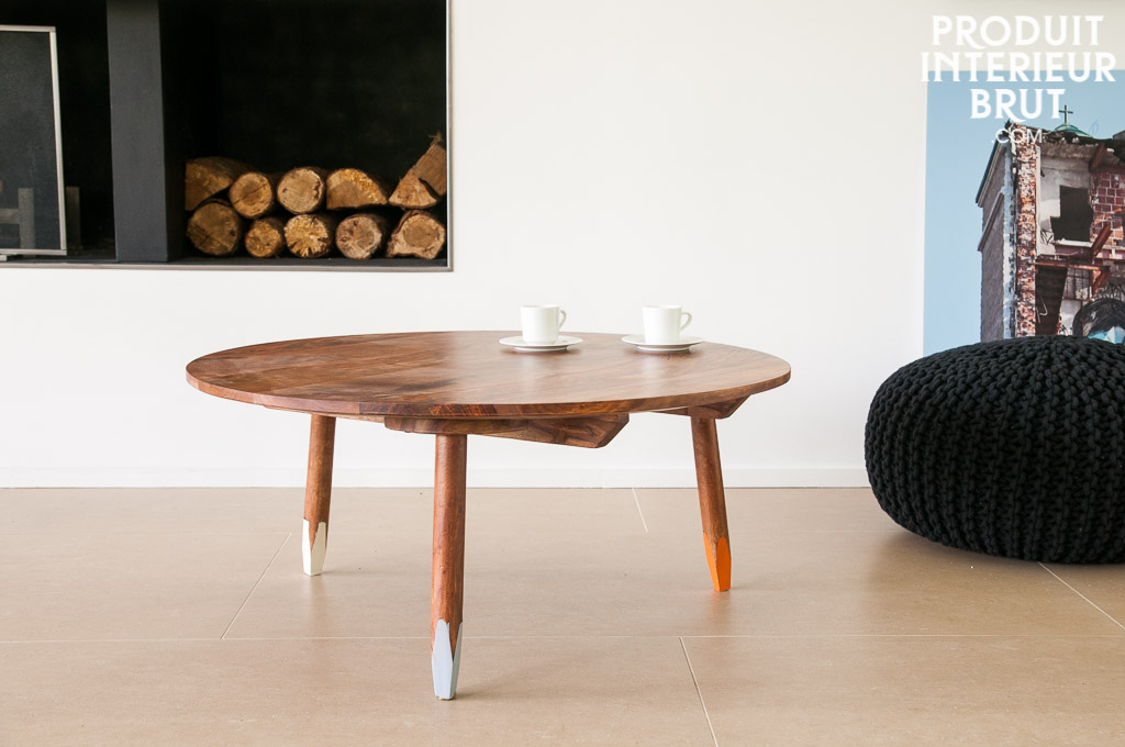Table basse pencil meuble scandinave design dans un esprit nordique - Table basse style vintage ...