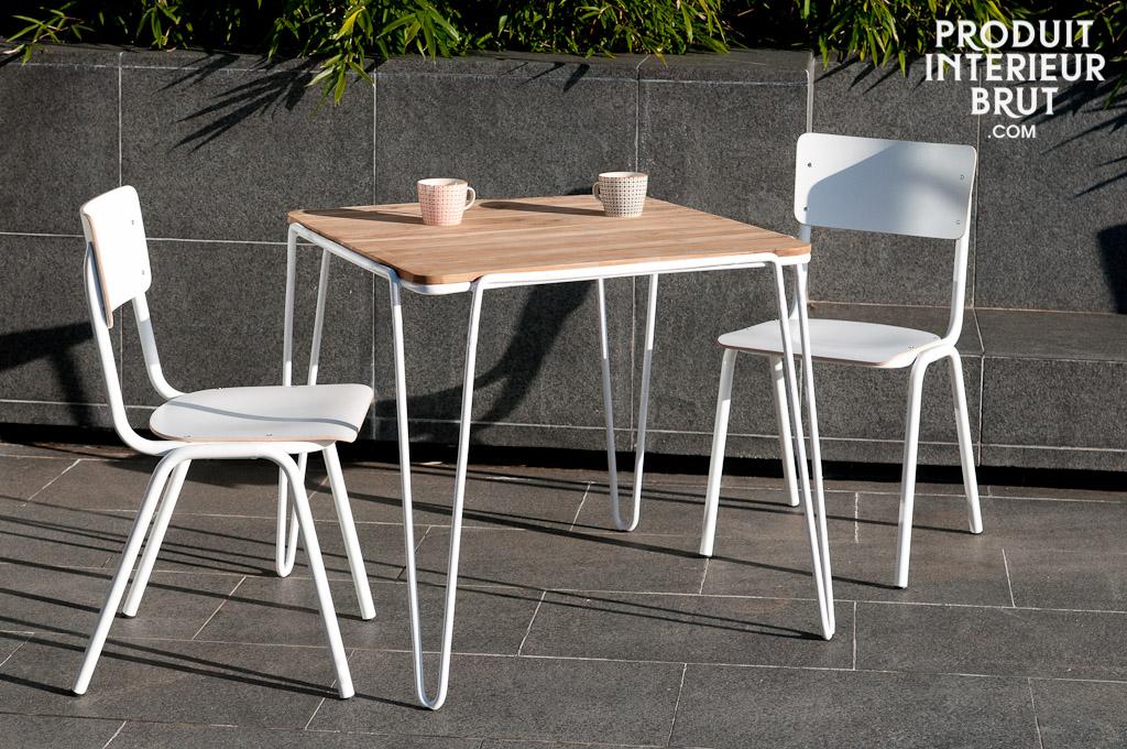 table de repas espace table scandinave de style vintage. Black Bedroom Furniture Sets. Home Design Ideas