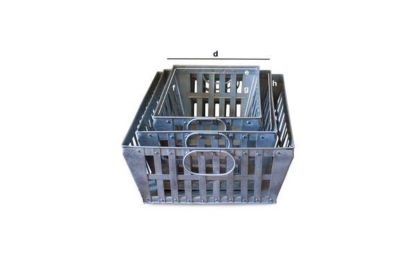 Dimensions du produit 3 paniers métalliques gigognes