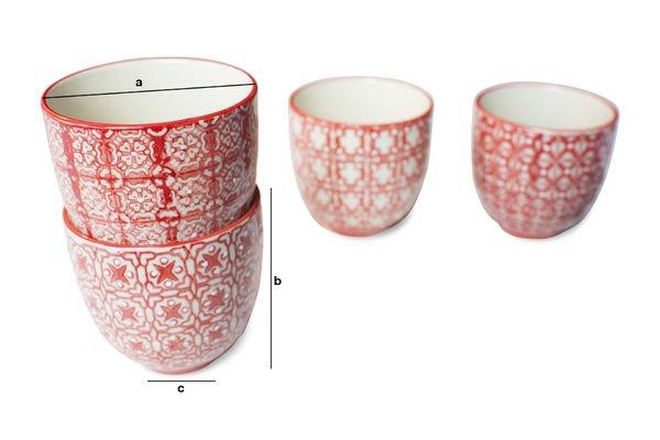 Dimensions du produit 4 tasses à café Kennedy