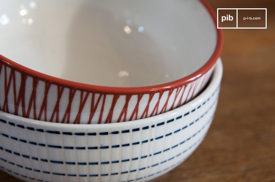 Les six bols Grite sont de jolis petits éléments de vaisselle vintage qui apporteront une touche