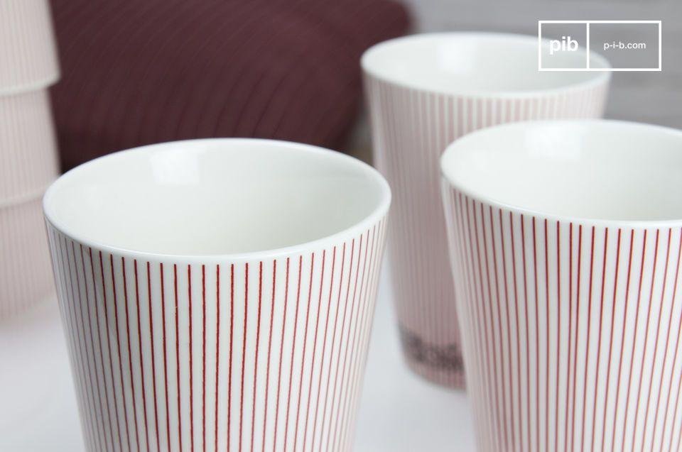Gobelets en porcelaine au look délicieusement scandinave