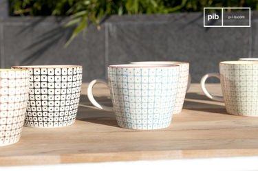 6 mugs en porcelaine Brüni