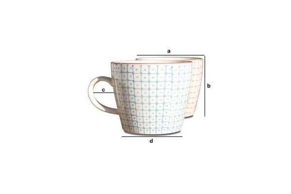 Dimensions du produit 6 mugs en porcelaine Brüni