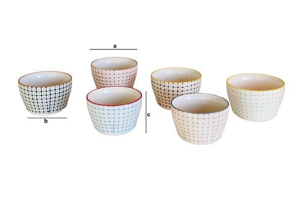 Dimensions du produit 6 Petits bols Brüni