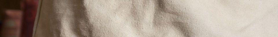Mise en avant matière Abat-jour Victoria beige