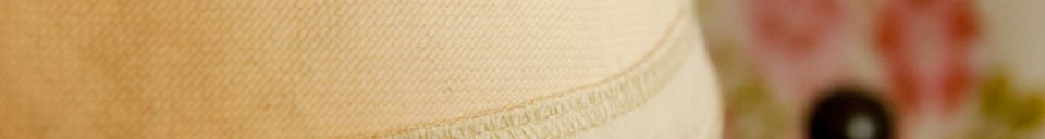 Mise en avant matière Abat-jour Victoria beige 25cm