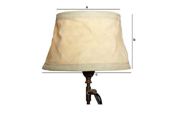 Dimensions du produit Abat-jour Victoria beige 25cm
