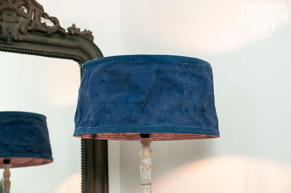 Abat-jour Victoria bleu 45cm