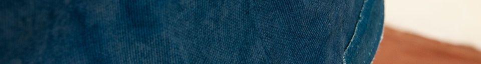 Mise en avant matière Abat-jour Victoria bleu 45cm