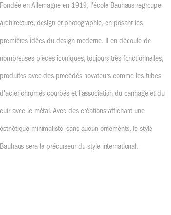 Style Bauhaus