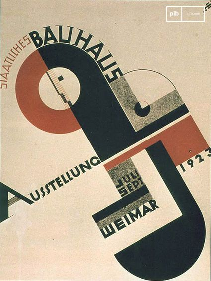 Affiche du Bauhaus de 1923