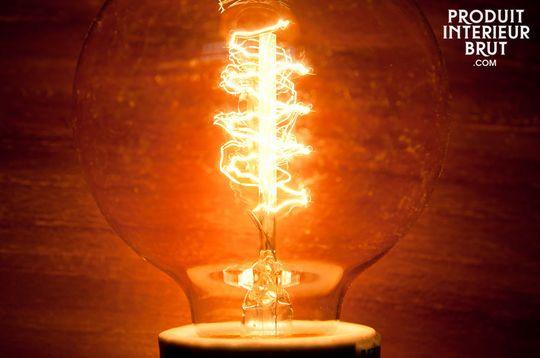 Ampoule déco à filament en spirale