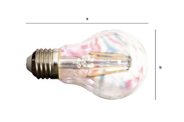 Dimensions du produit Ampoule Led 6cm façon ancien filament