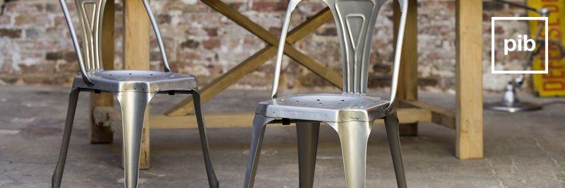Ancienne collection de chaise métal