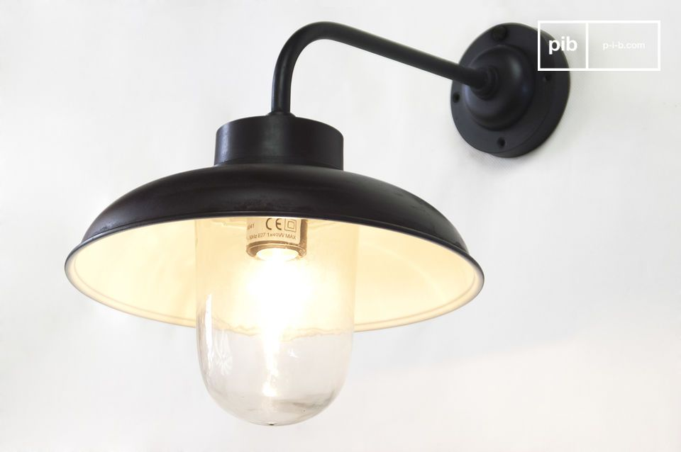 Applique ext rieure coud e lampe tanche typ e r tro pib for Luminaire exterieur retro