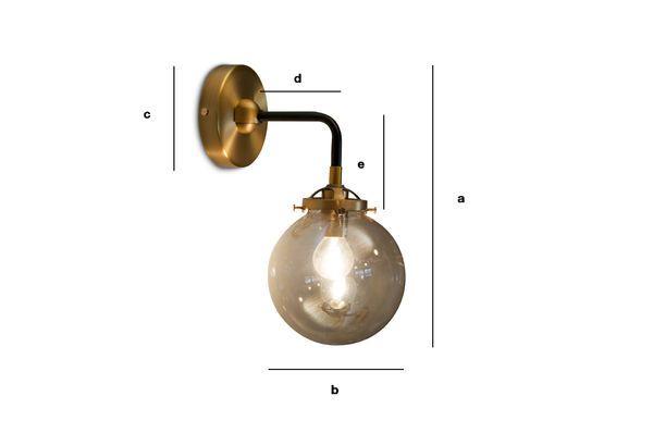 Dimensions du produit Applique murale dorée Halsa