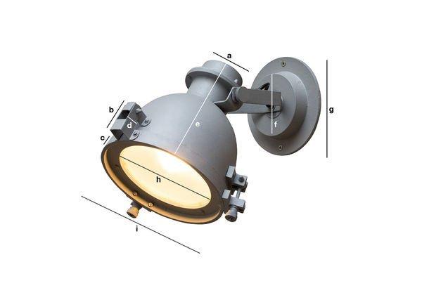 Dimensions du produit Applique Spitzmüller