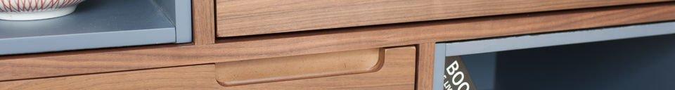 Mise en avant matière Armoire en bois Catzi