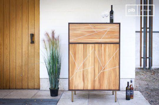 Armoire de rangement en bois linéa