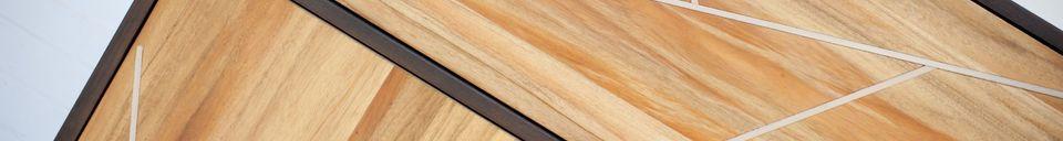 Mise en avant matière Armoire en bois Linéa
