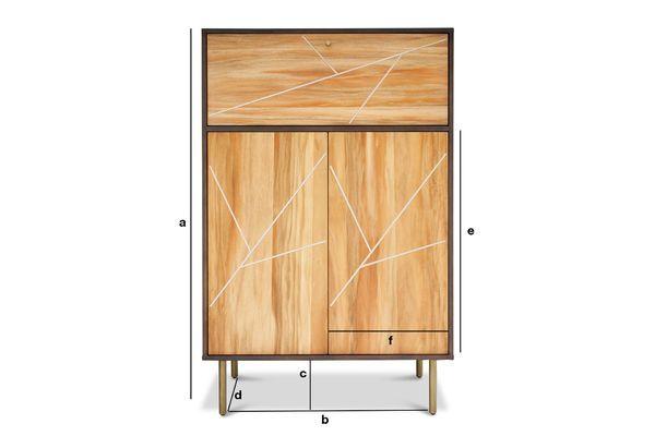 Dimensions du produit Armoire en bois Linéa