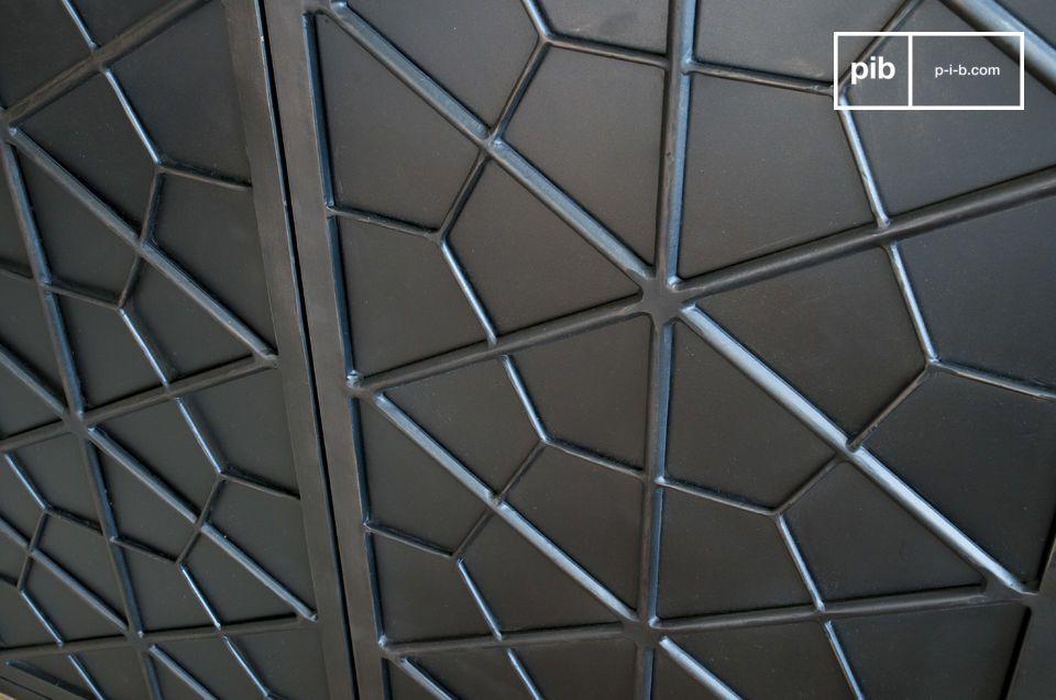 Ces motifs géométriques font référence au mobilier de la première moitié du XXème siècle et