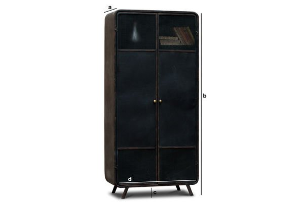 armoire en m tal minoterie ligne 50 39 s en rondeur pib. Black Bedroom Furniture Sets. Home Design Ideas