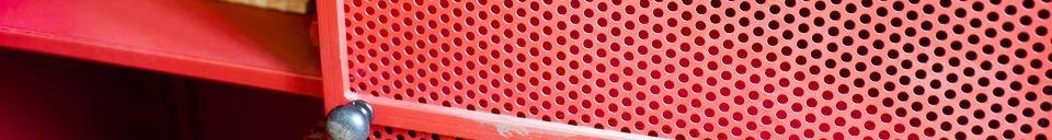 Mise en avant matière Armoire Minoterie rouge