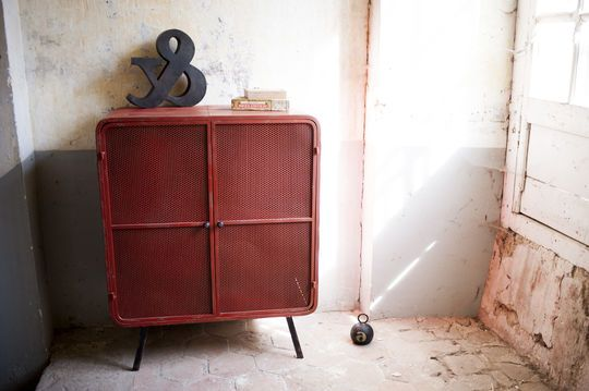 Armoire industrielle minoterie rouge