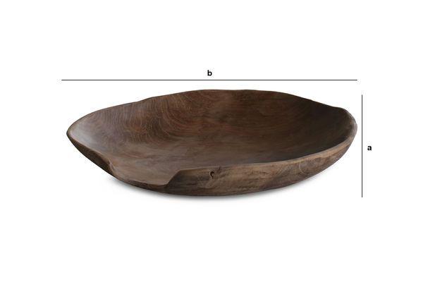 Dimensions du produit Assiette en teck Bali