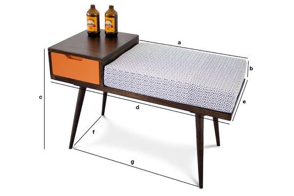 banc tiroir londress une assise pratique pib. Black Bedroom Furniture Sets. Home Design Ideas