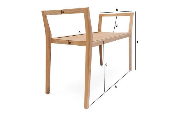 banc en fr ne n ten un si ge pratique affichant pib. Black Bedroom Furniture Sets. Home Design Ideas