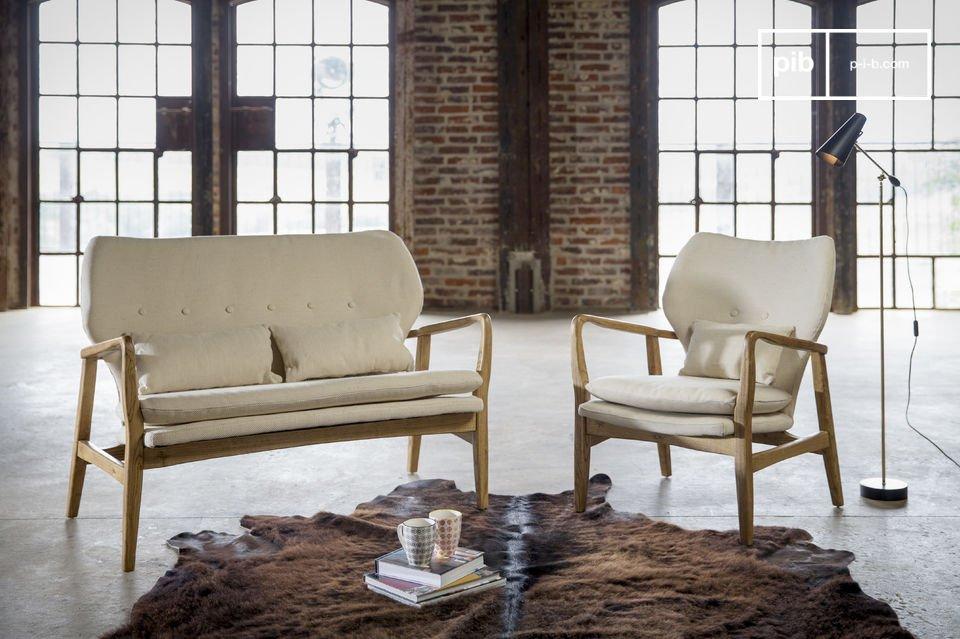 Ce canapé au style scandinave du milieu du XXème siècle est une véritable invitation au