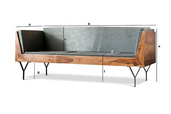 Dimensions du produit Banquette en bois Mabillon