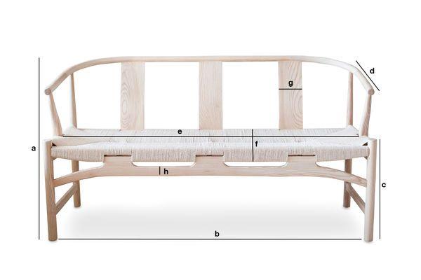 Dimensions du produit Banquette en bois Mäntta