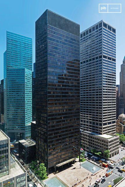 Bâtiment Seagram à New York par Mies Van der Rohe