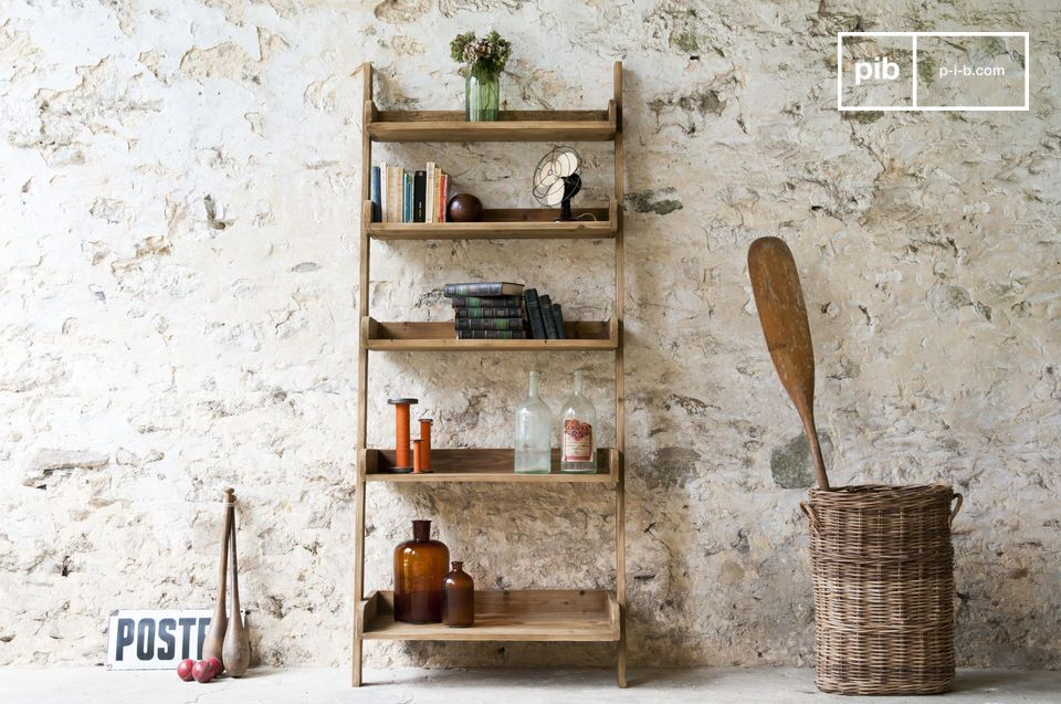 biblioth que en bois grande echelle pib. Black Bedroom Furniture Sets. Home Design Ideas