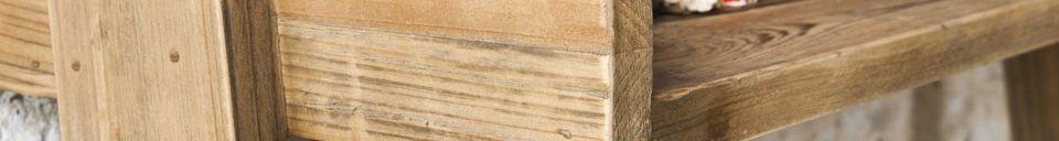 Mise en avant matière Bibliothèque en bois Grande Echelle