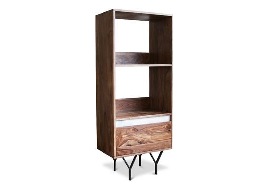 biblioth que en bois mabillon marbre et m tal pib. Black Bedroom Furniture Sets. Home Design Ideas