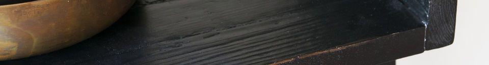 Mise en avant matière Bibliothèque en bois noir Grande Echelle
