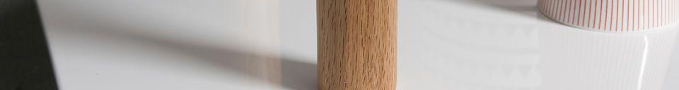 Mise en avant matière Bibliothèque en bois Tennö