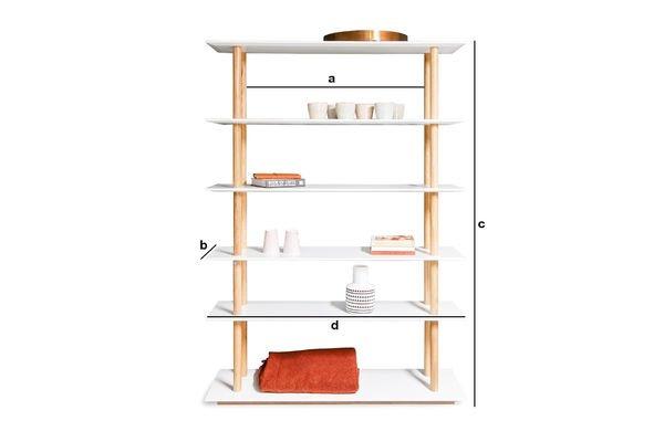 Dimensions du produit Bibliothèque Tennö