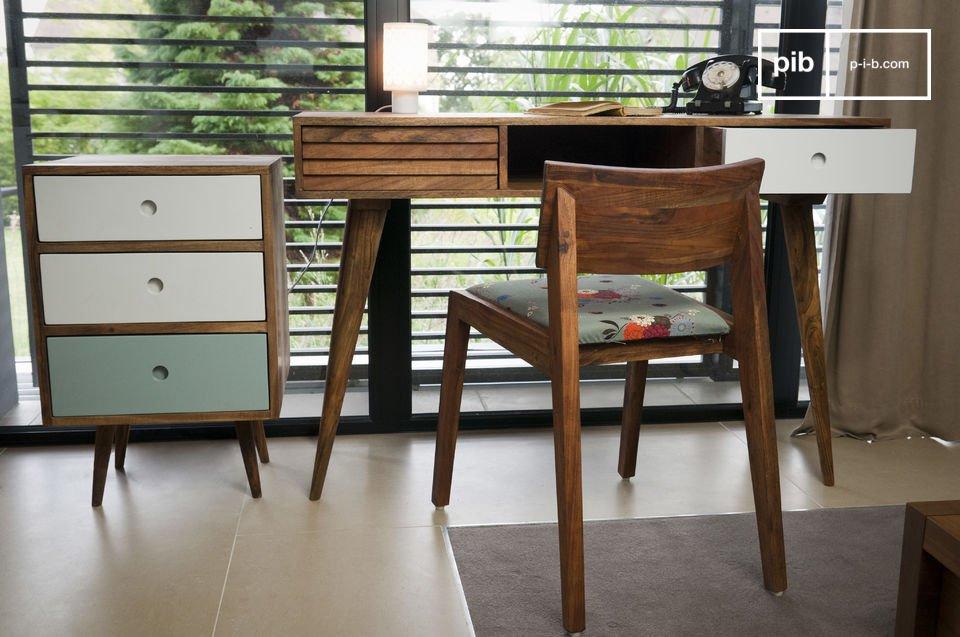 Le bloc 3 tiroirs Stockholm est un digne représentant du mobilier scandinave rétro