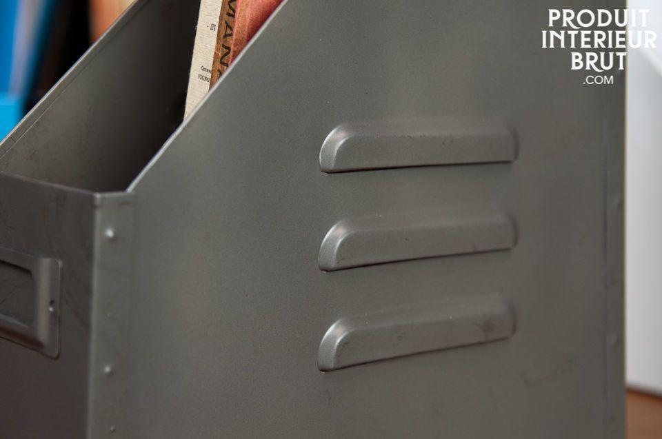 Mettez de la couleur sur vos étagères avec ces range-dossiers tout en métal !