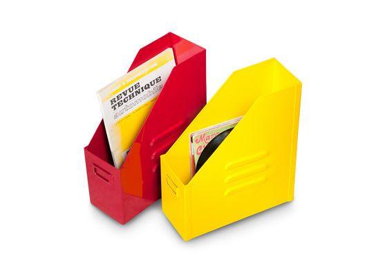 Boîte à dossiers Indus' jaune Détouré