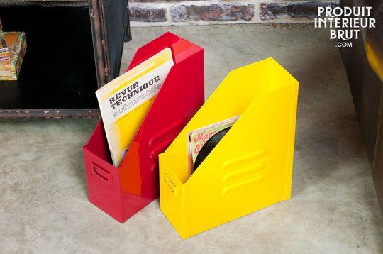 Boîte à dossiers Indus' jaune